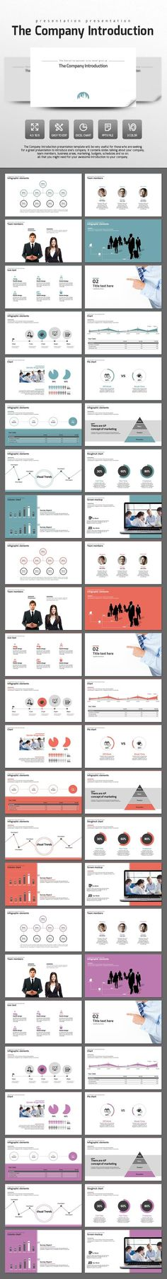 The Company Introduction - #PowerPoint #Templates Presentation Templates Download here: https://graphicriver.net/item/the-company-introduction/14435869?ref=alena994