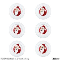 Santa Claus Cartoon Pack Of Small Button Covers