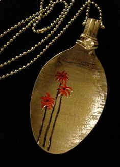My first Hand Etched Spoon Pendant ^_^ - JEWELRY AND TRINKETS