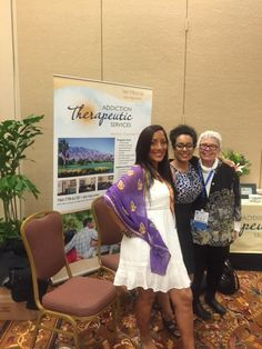 Great times at the Addiction Therapeutic Services booth at WCSAD!