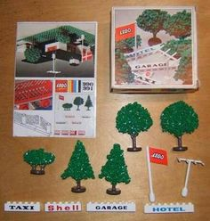 Plastic LEGO model cars:Granulated trees  Modelnumber 1955-1969:  Modelnumber 1960-1970:990  Description/Print:  Modelvariations: see below!  Produced from / to:1970-1973