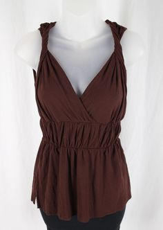 Sweet Pea Women's Brown Sleeveless V Neck Shirt Tank Top Size XS | Clothing, Shoes & Accessories, Women's Clothing, Tops & Blouses | eBay!
