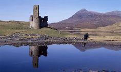 ruin of the sixteenth century Ardvreck Castle, on Loch Assynt in Scotland. - From classic scary gothic settings to warm and dreamy refuges, fiction is full of castles. Jessamy Taylor picks the most memorable Gothic Setting, Book Sites, Long Weekend, North West, Monument Valley, Britain, Scotland, Remote, Fiction