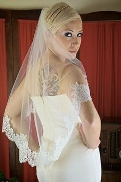 Lace Edge Wedding Veil  Tutorial  DIY  by YourHandCreated on Etsy, $21.50