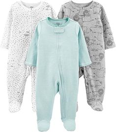 Simple Joys by Carter's Baby Cotton Footed Sleep and Play Baby Outfits, Cute Girl Outfits, Simple Outfits, Kids Outfits, Preemie Clothes, Newborn Boy Clothes, Baby Boy Newborn, Cold Wear, Best Pajamas