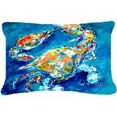 Found it at Wayfair - By Chance Crab Indoor/Outdoor Throw Pillow