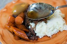 "This is the best pot roast recipe I've ever made. The only things that I did different was to exclude the thyme and rosemary and include marjoram, and that was just a matter of ""I like this and not that"". Good gracious this Pioneer Woman can cook! :)"