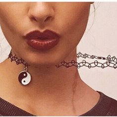 90s choker Black 90s choker with ying and yang charm  ✨✨Half Price When Bundled With Other Jewelry ✨ ✨ Voga Lup Jewelry Necklaces
