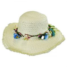 Kids Fringe Toyo Straw Sun Hat by Jeanne Simmons available at 4 Kids, Children, Hat Shop, Lace Ribbon, Crafts For Girls, Kids Hats, Girl With Hat, Sun Hats, Cowboy Hats