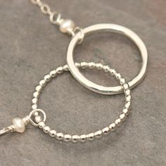 Linked Circles Connected Necklace in Sterling Silver Maggie McMane Designs. $44.00, via Etsy.
