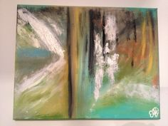 Abstract 1, by Emily Doerr, my painting for sale on Etsy. -EmilysArtandDesign