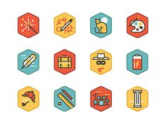 We had loads of fun creating all the icons for this project.  You can find all 60 that we created and find out what they were for here: http://www.behance.net/gallery/TidePool/10655495