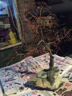 This is the chance to experience trees in a new way. Winter is the best time of the year to see the actual branches and trunk of the tree - without the leafy covering Peace Art, Tree Tree, Wire Trees, Miniature Trees, Wabi Sabi, Recycled Materials, Copper Wire, Bonsai, Sculpture Art