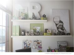 Love these shelves!  I Heart Faces Photography Studio Tour Rialee Photography