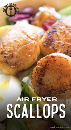 Cooking scallops is easy to do with an air fryer. It takes less than 6 minutes and is delicious with Cooking scallops is easy to do with an air fryer. It takes less than 6 minutes and is delicious with salads or pasta. Air Fryer Recipes Vegetables, Air Fryer Recipes Vegetarian, Air Fryer Recipes Low Carb, Healthy Recipes, Snacks Recipes, Easy Recipes, Dessert Recipes, Amazing Recipes, Easy Desserts