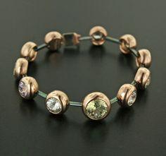 Sapphire, 18K Rose Gold and Steel Bracelet by James de Givenchy #Taffin #JamesdeGivenchy #Bracelet