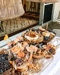 A decadent grazing table and bar inspired by languid summer celebrations, by The Lane and Eleven Events. Cheese Platters, Food Platters, Charcuterie And Cheese Board, Grazing Tables, Antipasto, Safe Food, A Table, Food And Drink, Picnic
