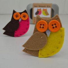 Owl Brooch Sewing Kit