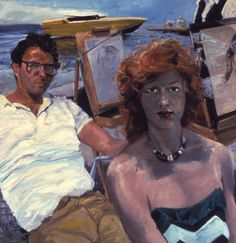 Eric Fischl | Self-Portrait with April Gornik at the Beach, 1983