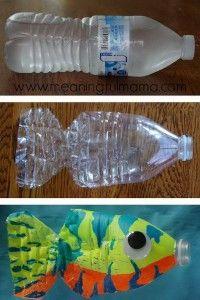 Cómo hacer peces con botellas desechables de plástico