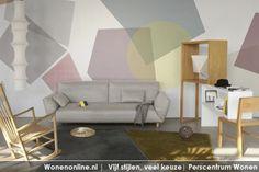 Fris pastel   Missiva, een van de drie nieuwe collecties van Tres Tintas, is ontworpen door Ana Mir en Emili Padrós. De passie voor cirkels, strepen en texturen komt tot uiting in een mooi grafisch behang http://www.wonenonline.nl/interieur/12/vloer-wandbekleding-2012.html#