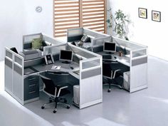 modern office cubicles | Used Office Workstations for Economical Alternative | Office Furniture