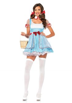 82a95cd9e758ad Our Oz Beauty Dorothy Halloween costume from Leg Avenue features blue and  white checker high waist