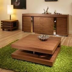 Coffee / End / Side / Lamp Table Square Walnut Modern Designer 97E