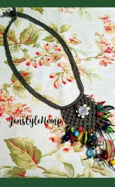 Boho Amulet Hemp Necklace by Jenstylehemp on Etsy