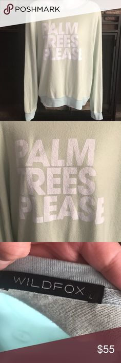 Wildfox Couture palm trees please bbj NWT! Wildfox Sweaters