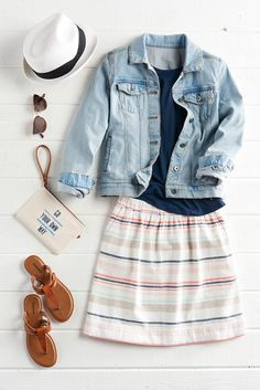 Go your own way this summer in the perfect outfit. A breathable linen skirt works best for those hot days while a classic jean jacket keeps the cool away at night. Shop SONOMA Goods for Life only at Kohl's.