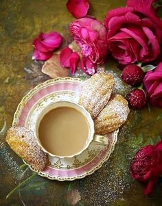 Red roses, cake and tea. - Vintage Stories and Style