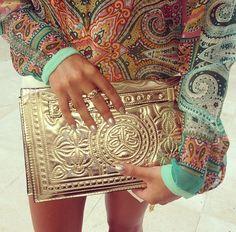 gold clutch