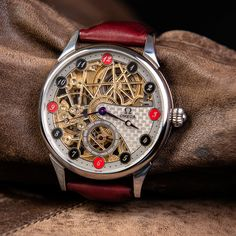 Omega Skeletonized wristwatch - vintage swiss watch – Patina Original Mens Skeleton Watch, Vintage Omega, Swiss Watch, Watches, Leather, Accessories, Wristwatches, Clocks, Jewelry Accessories
