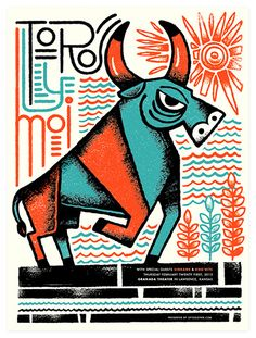 Toro y Moi @ Granada Theater by Tad Carpenter Gig Promo: The Best Modern Concert Posters — Cher Amis Art And Illustration, Graphic Design Illustration, Illustrations Posters, Taurus, Toro Y Moi, Kunst Poster, Concert Posters, Music Posters, Zine