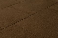 "Outdoor Interlocking Rubber Pavers - Teak Brown Pigment - Smooth/24""x24""x3/4"""