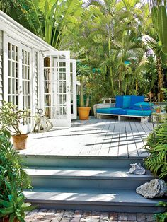 French Doors opening onto deck...
