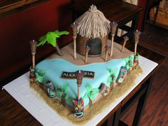 Love this island cake! Very survivor-esque. Cakebydesign