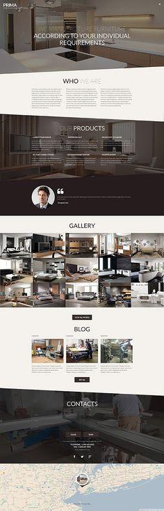 Template 53145 - Prima Furniture  Responsive WordPress  Theme