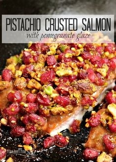 This pistachio crusted salmon recipe is a sight to behold. If you are looking for something stunning to serve to guests, an alternative holiday dinner, or participate in the Italian Feast of the Seven Fishes, this salmon recipe is not only gorgeous to ser Easy Family Meals, Meals For One, Kids Meals, Family Recipes, Whole 30 Recipes, Great Recipes, Dinner Recipes, Recipe Ideas, Dinner Ideas