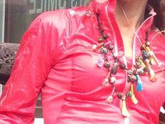 Red Leather, Leather Jacket, Jackets, Fashion, Studded Leather Jacket, Down Jackets, Moda, Leather Jackets, Fashion Styles