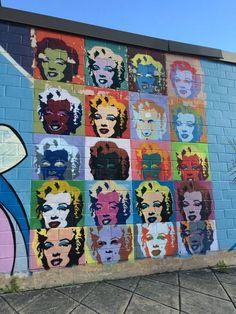 Murals Street Art, Mural Art, Street Art Graffiti, Wall Art, Wall Murals, Texas Photography, Photography Tips, Marilyn Monroe Pop Art, Photo Mural