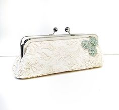 bridal clutch bags - ella-lace-clutch for the bridesmaids