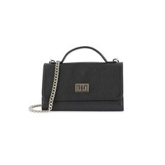 Belle Clutch Black by Dicami. Equally chic held as a clutch or worn by its detachable cross body chain this versatile bag can also be used as a wallet. Made in Italy using fine Italian leather. Italian Leather, Cross Body, Italy, Handbags, Chain, Collection, Black, Fashion, Moda