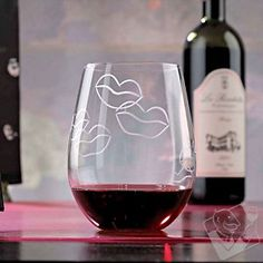 Kiss 'U' Etched Tumblers (Set of 2) at Wine Enthusiast - $12.95