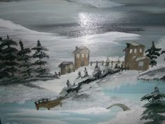 ©Let it snow, painted by Iris Sun, oil on canvas www.irisunart.com