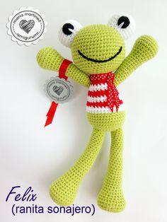 Rana Sonajero, patrón GRATIS  #crochet #patronGratis #amigurumi
