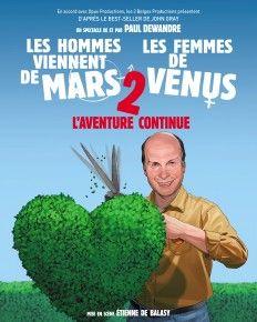 LES HOMMES VIENNENT DE MARS, LES FEMMES DE VÉNUS 2 : mardi 31 mai 2015 à 20h00, CLERMONT-FERRAND Zénith d'Auvergne. Plus d'infos : http://www.lesdernierscouches.com/les-hommes-viennent-de-mars-les-femmes-de-venus-2/