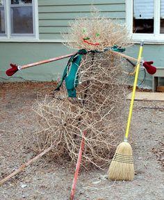 "A West Texas Tumbleweed ""Snowman"""