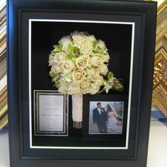For a wedding day memory that lasts forever, freeze dry your bouquet in a gorgeous frame!